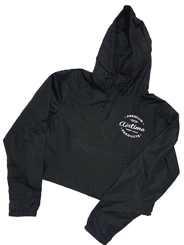 Premium Products Cropped Windbreaker - Black