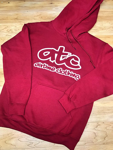 ATC Logo Hoodie - Maroon/White