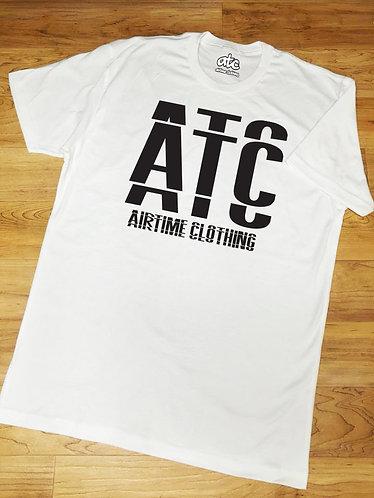 Overlap T-shirt- White