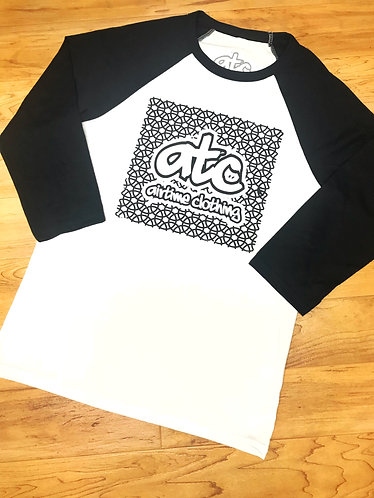 Squared Up - 3/4 Sleeve - White/Black