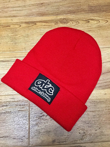 Patchy - Fold Up Beanie - Red/Black