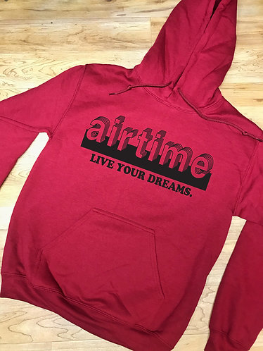 Live Your Dreams - Hoodie - Maroon/Black
