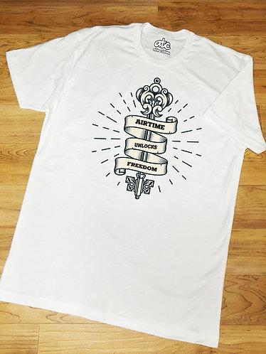 Freedom Tshirt - White/Black