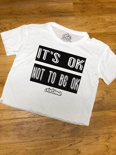 It's Ok Crop Top - White