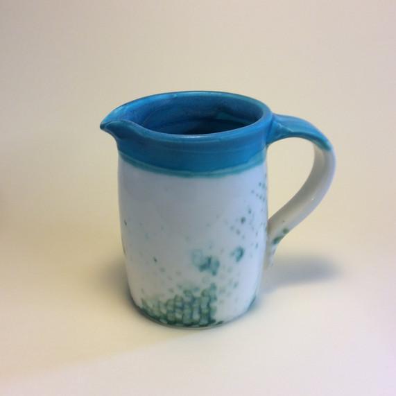 Small spotted milk jug