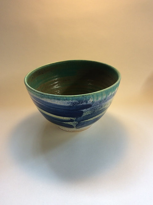 Deep bowl with green interior