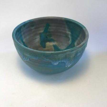 Small mottled blue bowl