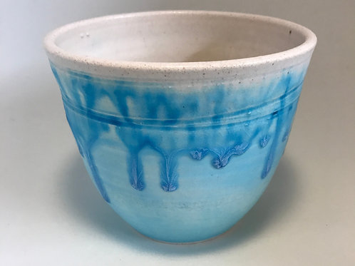 Deep turquoise and white bowl
