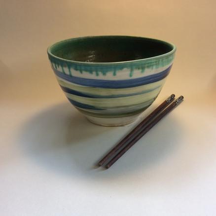 Deep bowl green interior
