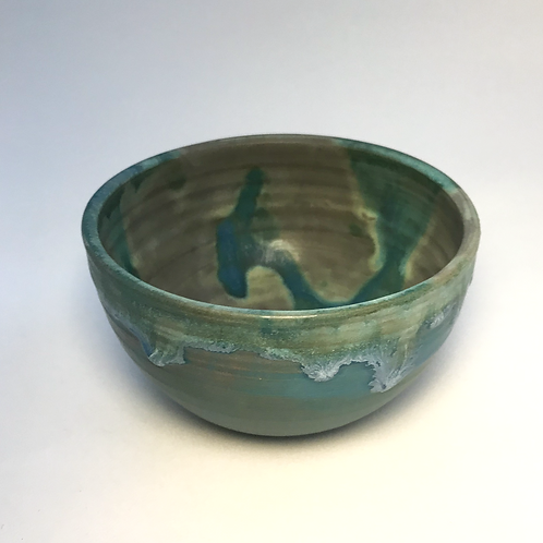 Small mottled blue bowl