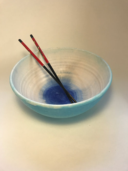 Turquoise and blue bowl