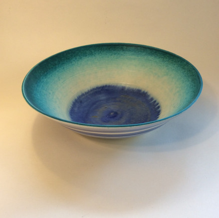 Large Wide Turquoise Bowl