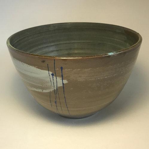 Deep bowl mottled interior