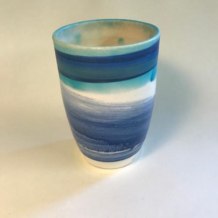 Blue striped Vase