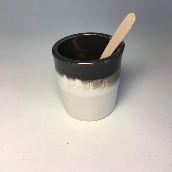 Salt pot and spoon
