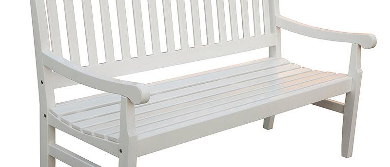 Скамейка Lira белая