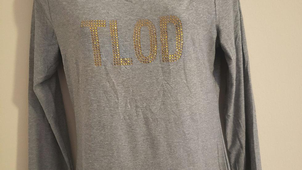 Tlod Long Sleeve Gray Top