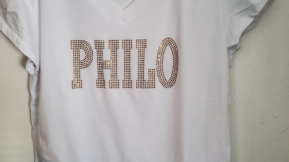 Philo Vneck Bling Shirt