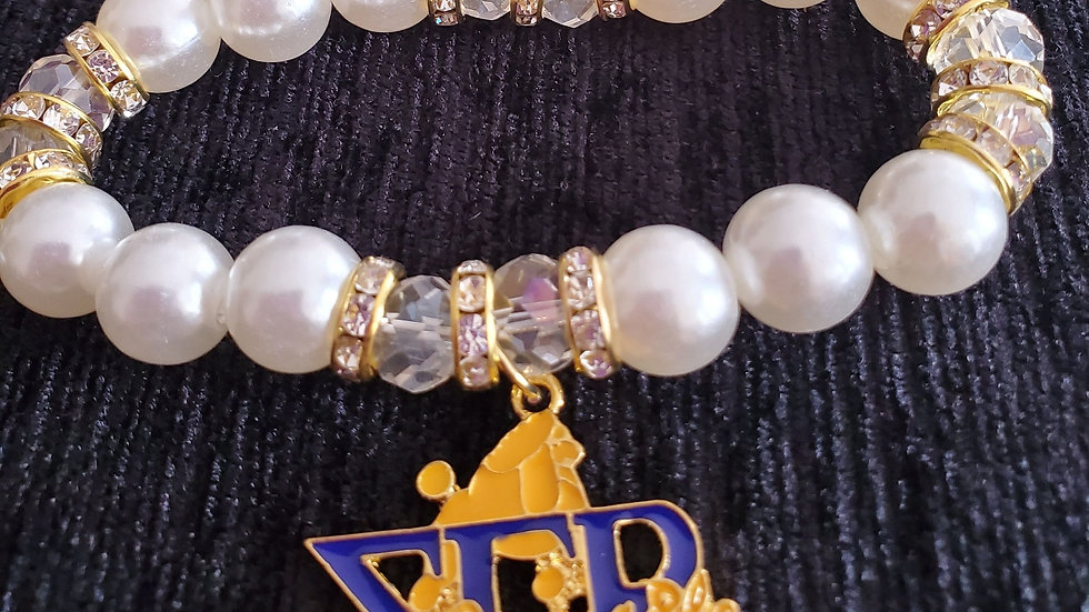 Sgrho Poodle Pearl Bracelet