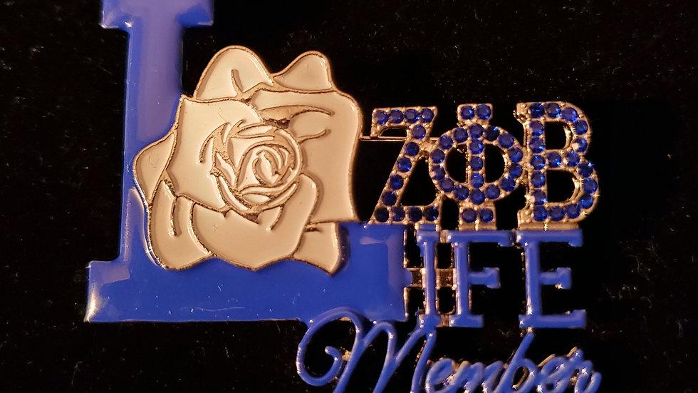 Zeta Life Member pin