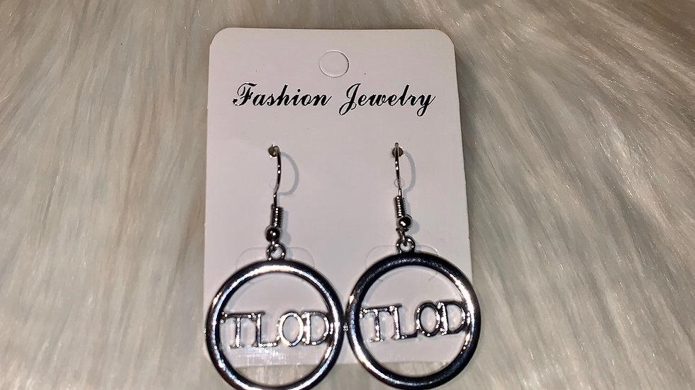 TLOD round silver earrings