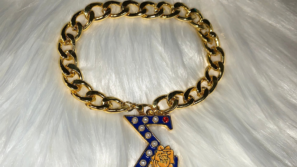 Sgrho chain bracelet with rose