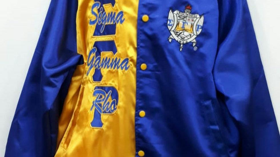 Sgrho Blue/Gold Satin Jacket