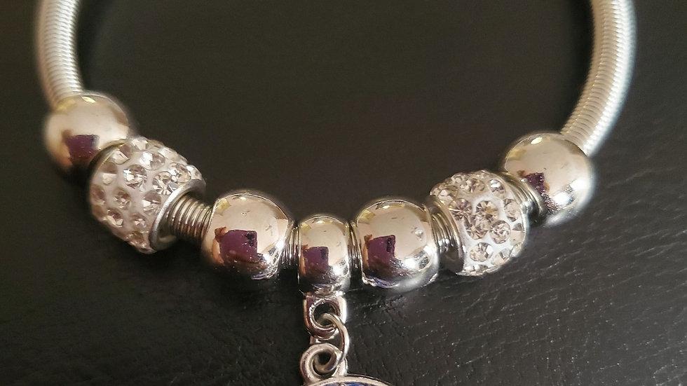 Zeta Dove Silver Bracelet