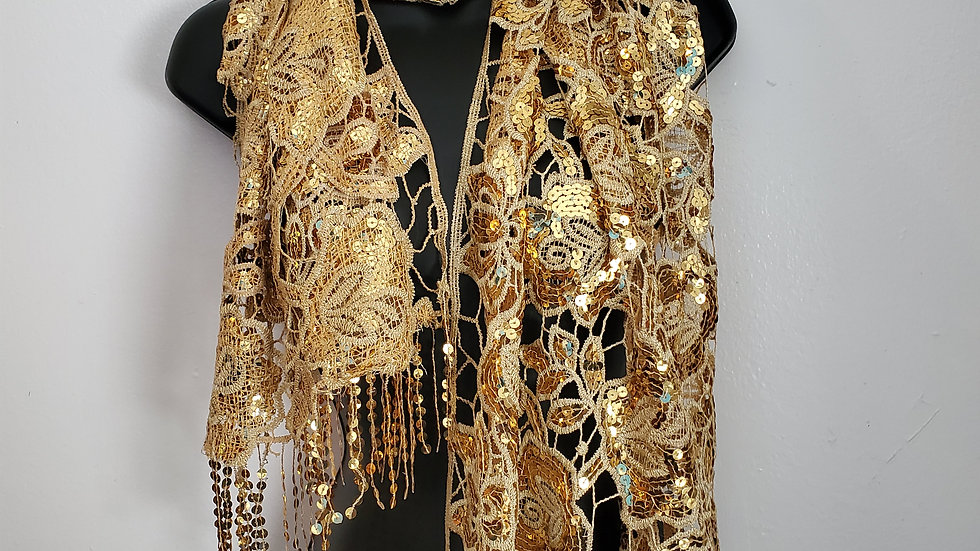 Gold Bling Scarf