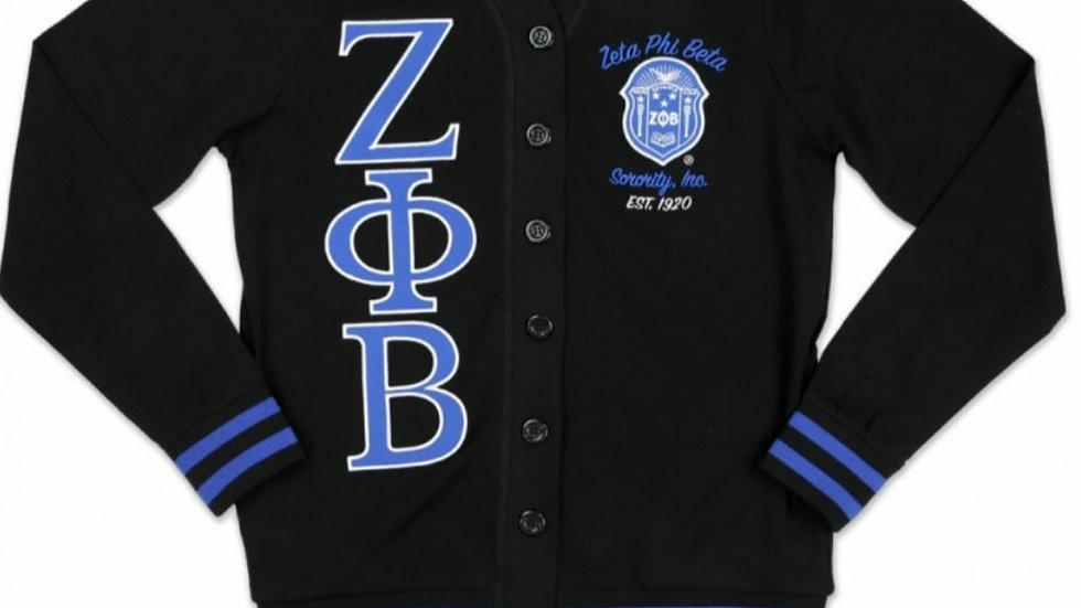 Zeta Black Shield Cardigan