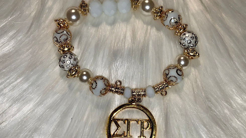 beaded sgrho gold bracelet