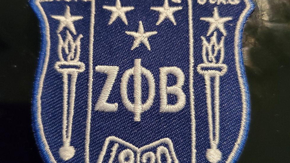 Zeta 3 1/2 inch Shield Patch