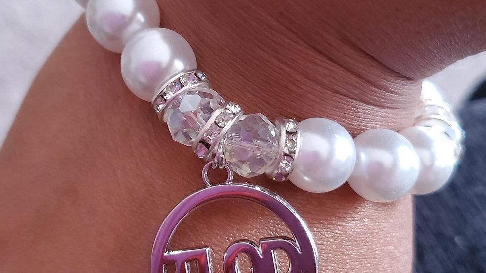 Tlod Silver Pearl Bracelet