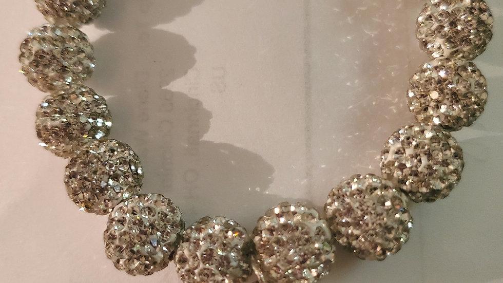 Zeta Silver Bling Shield Bracelet