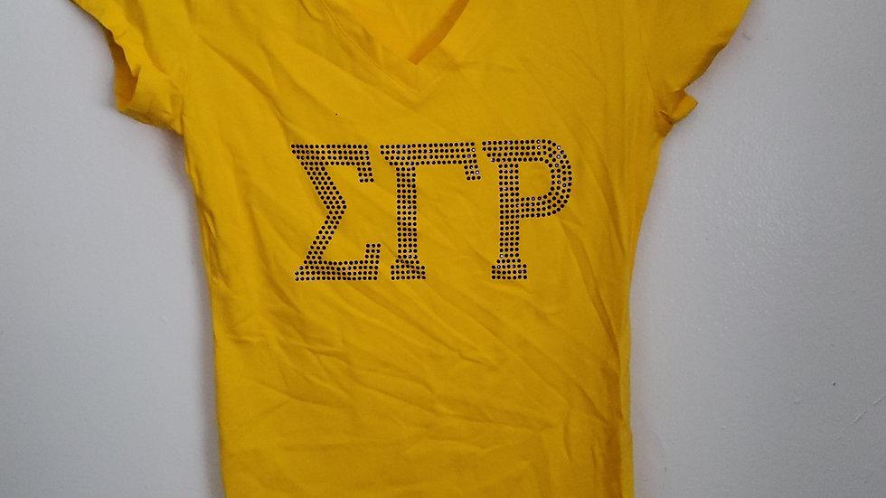 Sgrho Gold Letter Shirt