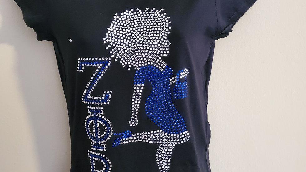 Women Zeta Bling Tshirt