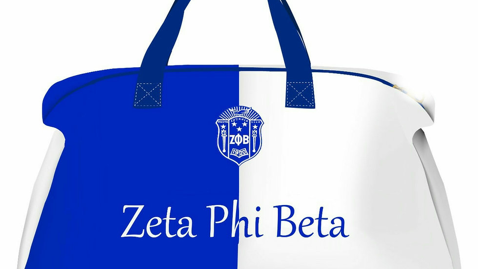 Zeta Blue & White Duffle Bag (PREORDER)