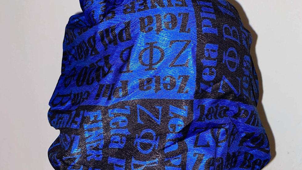 Zeta Blue and Black Bonnet
