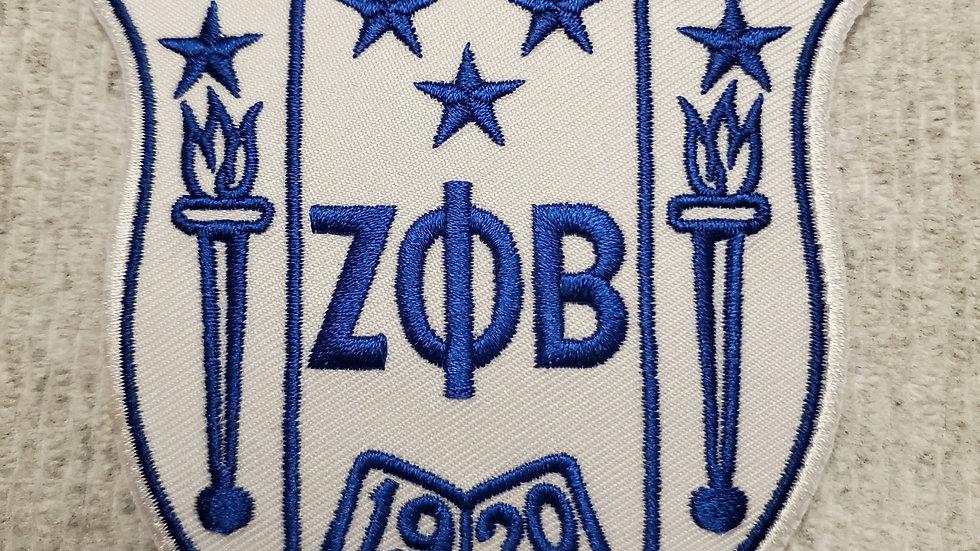 """Zeta 3"""" White Shield Patch"""