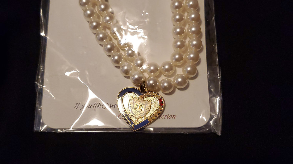 Sgrho Heart Pearl Necklace