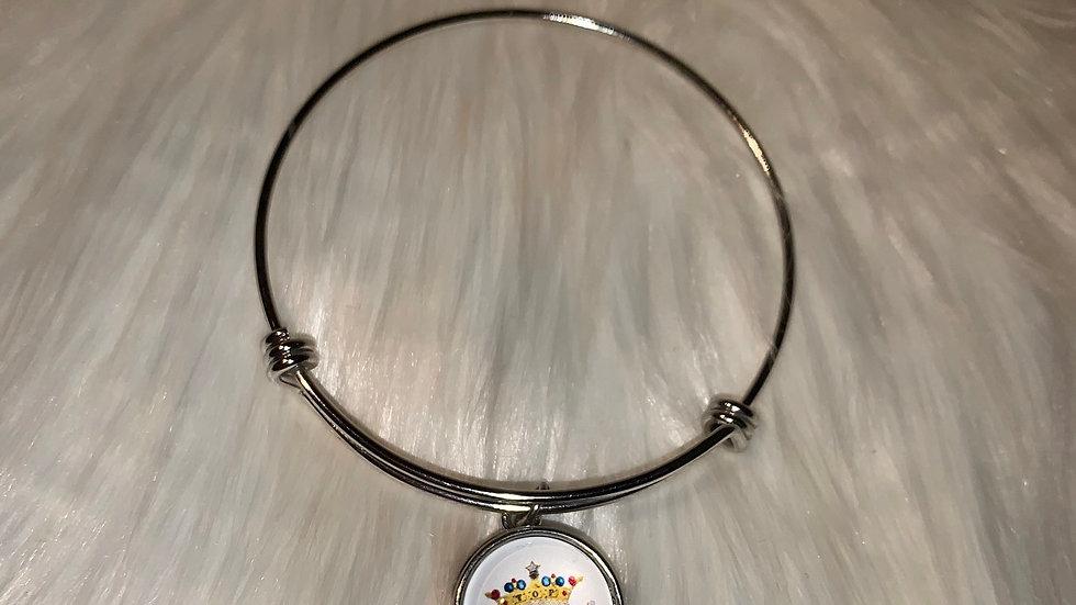 TLOD silver snap jack and Jill bracelet