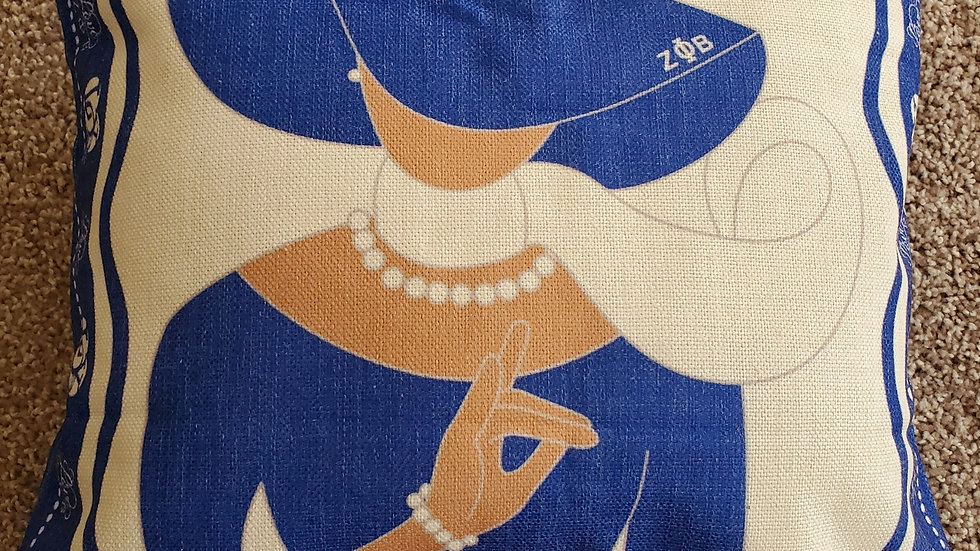 Zeta Lady Pillow Case