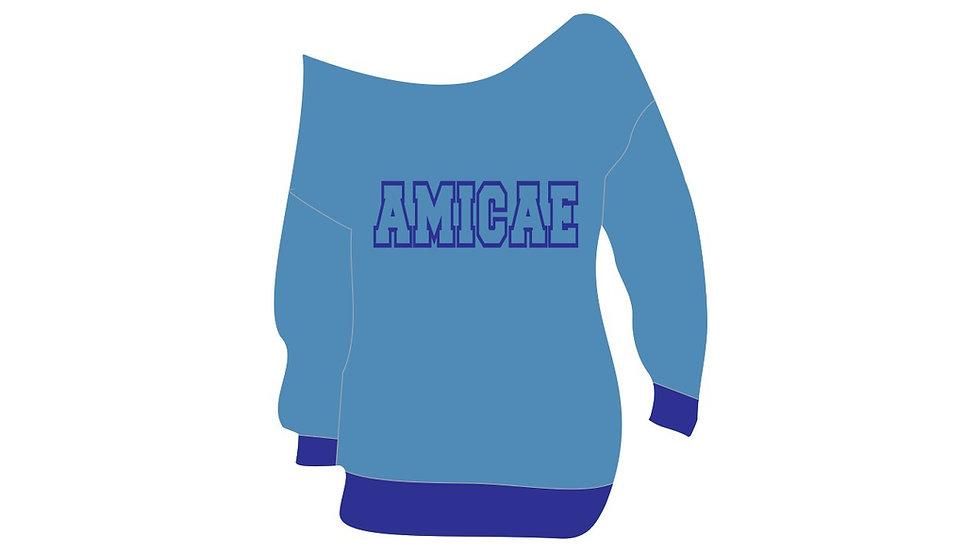 Amicae New Off Shoulders Sweatshirt (PREORDER)