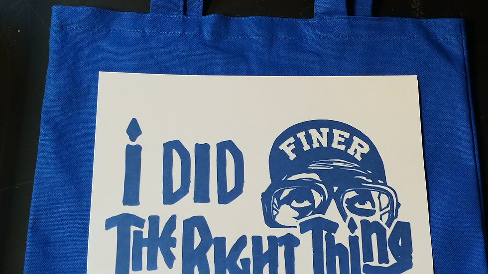 Zeta I did the right thing bag