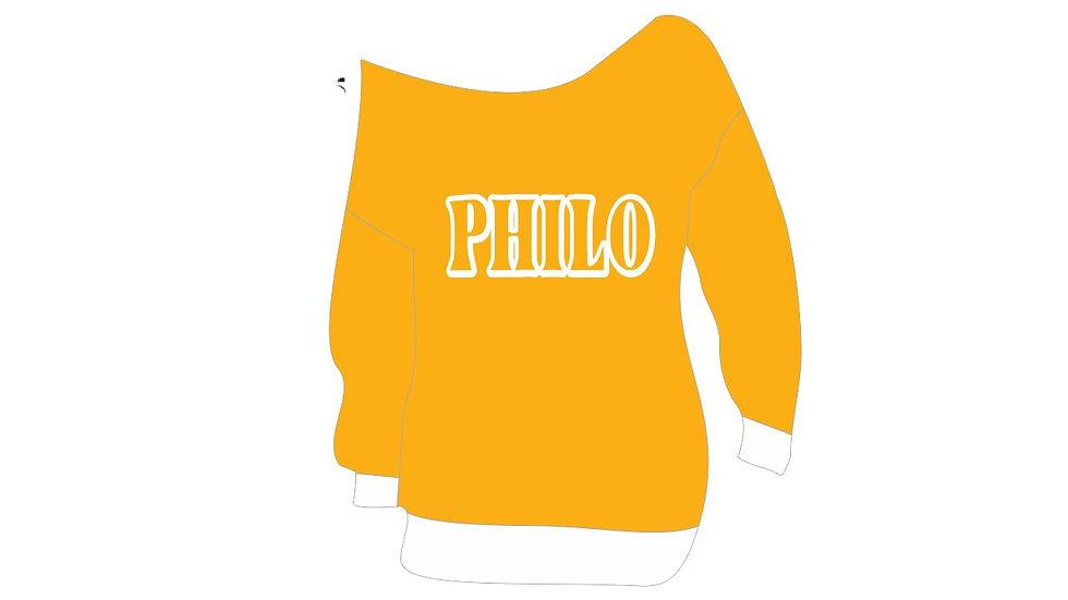 Philo New Off Shoulder Sweatshirt (PREORDER)