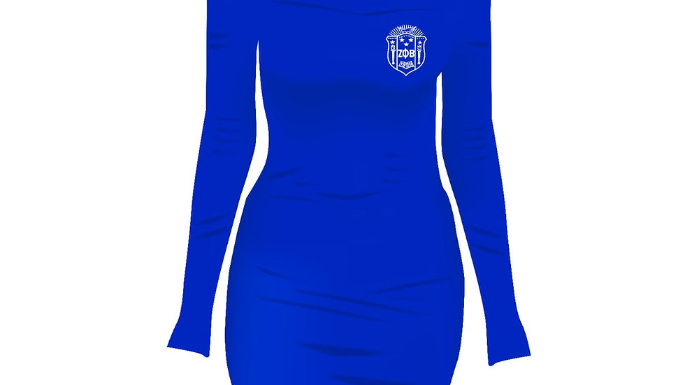 Zeta Off Shoulder Long Sleeve Dress PREORDER