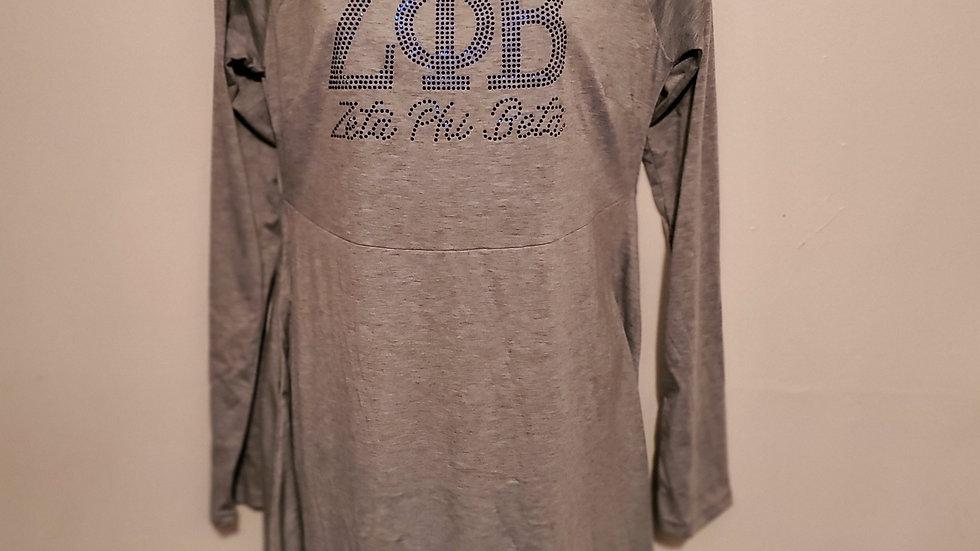 Zeta Grey Babydoll Dress
