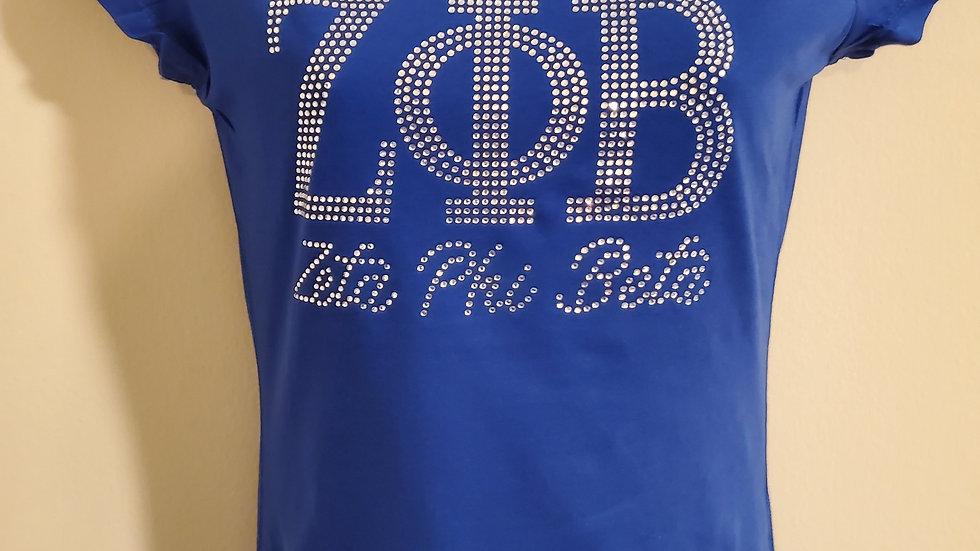 Zeta Bling Letter Shirt