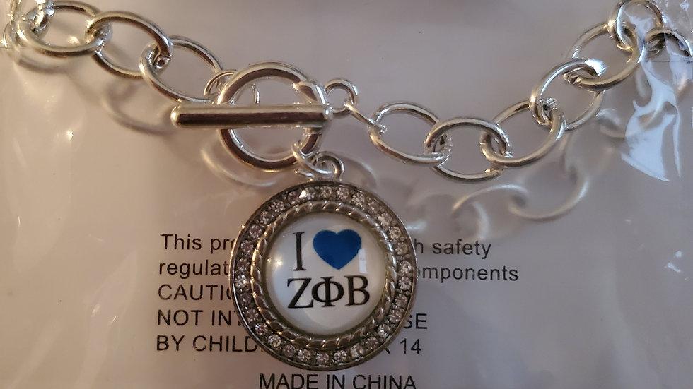 Zeta I love Chain Bracelet