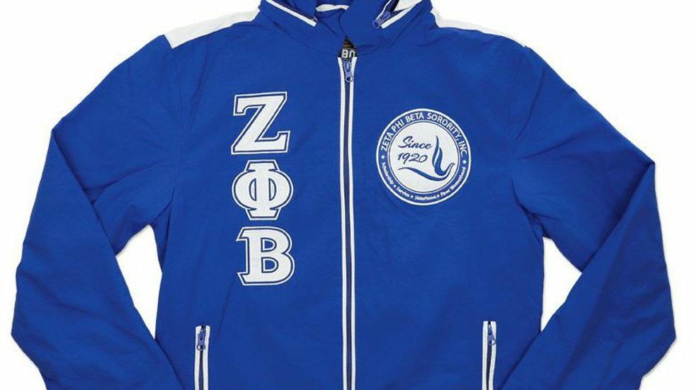 Zeta Blue Windbreaker